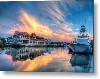 Summer Nights On Shem Creek Metal Print