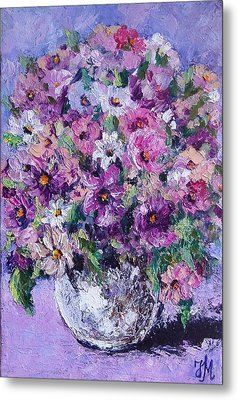 Metal Print featuring the painting Summer by Nina Mitkova