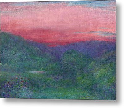 Metal Print featuring the painting Summer Nocturne by Judith Cheng