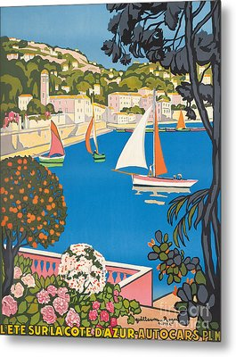 Summer On The Cote D'azur Metal Print by Guillaume Georges Roger