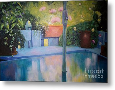 Summer On The Deck Metal Print by Marlene Book