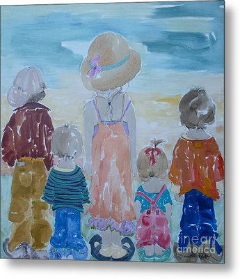 Summer Passes As Usual Metal Print by Vicki Aisner Porter