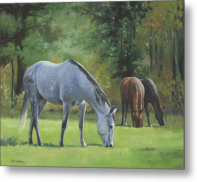 Metal Print featuring the painting Summer Pasture by Alecia Underhill