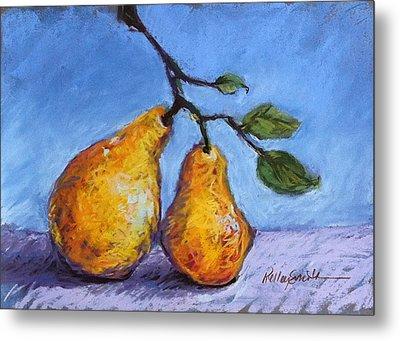 Summer Pears Metal Print by Kelley Smith