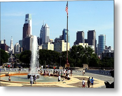 Summer Philly Skyline Metal Print by Christopher Woods