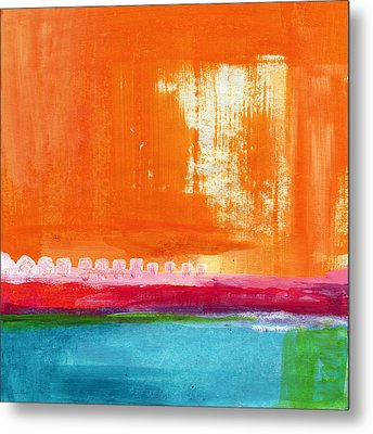Summer Picnic- Colorful Abstract Art Metal Print by Linda Woods