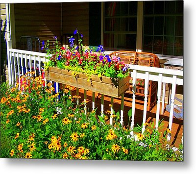 'summer Porch' Metal Print