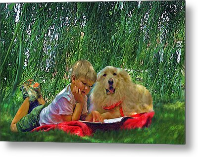 Summer Reading Metal Print by Jane Schnetlage