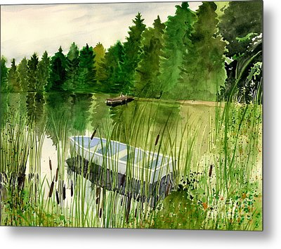 Summer Reflection Metal Print by Melly Terpening