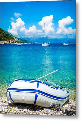 Summer Sailing In The Med Metal Print