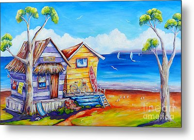 Summer Shacks Metal Print