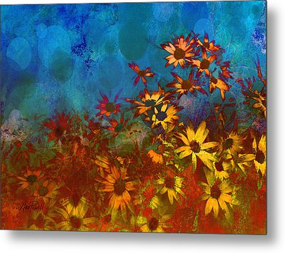 Summer Sizzle Abstract Flower Art Metal Print by Ann Powell
