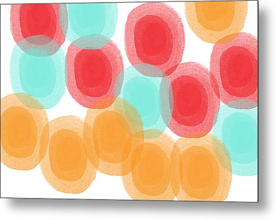 Summer Sorbet- Abstract Painting Metal Print