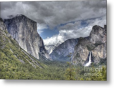 Metal Print featuring the photograph Summer Storm At Yosemite by ELDavis Photography