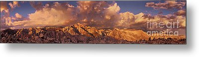 Metal Print featuring the photograph Summer Storm Clouds Over The Eastern Sierras California by Dave Welling