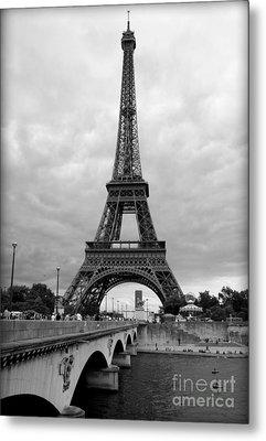 Summer Storm Over The Eiffel Tower Metal Print by Carol Groenen
