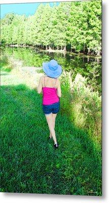 Summer Stroll In The Park - Art By Sharon Cummings Metal Print