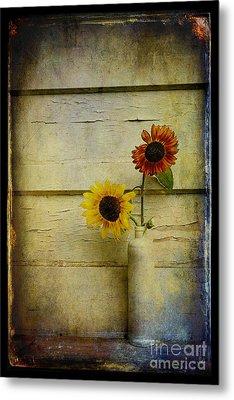 Summer Sunflowers Metal Print by Sari Sauls