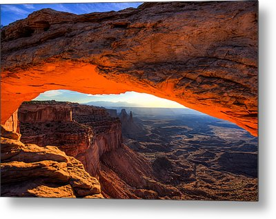 Summer Sunrise At Mesa Arch Metal Print