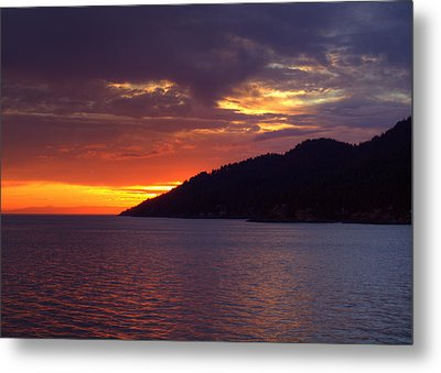 Summer Sunset Metal Print by Randy Hall