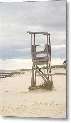Summer Throne Lifeguard Chair Metal Print by Suzanne Powers