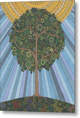 Summer Tree Metal Print by Pamela Schiermeyer