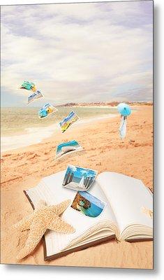 Summer Vacation Postcards Metal Print by Amanda Elwell