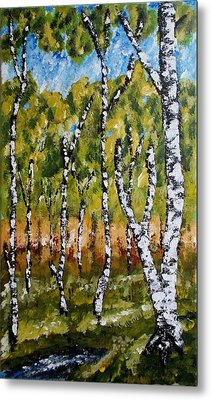 Metal Print featuring the painting Summerforest by Zeke Nord