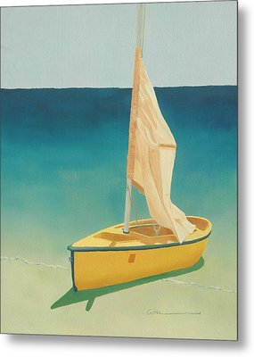 Summer's Boat Metal Print