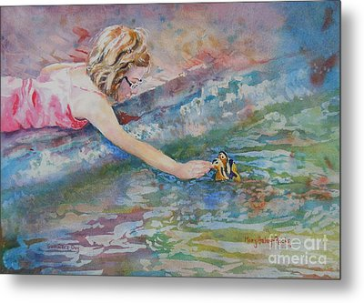 Metal Print featuring the painting Summer's Day by Mary Haley-Rocks