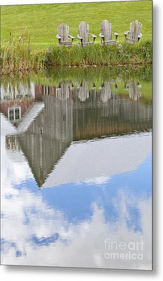 Summertime Reflections Metal Print by Alan L Graham