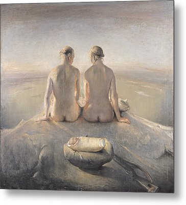 Summit Metal Print by Odd Nerdrum