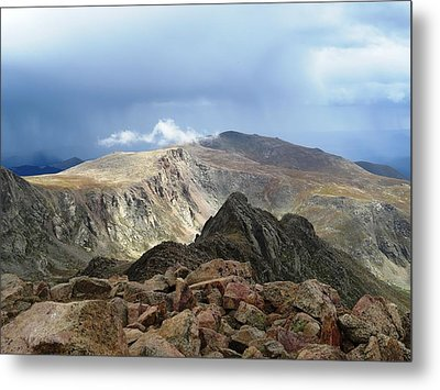 Summit Thunderstorm Metal Print