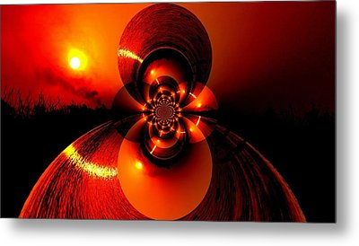 Sun Abstraction-3 Metal Print by Anand Swaroop Manchiraju