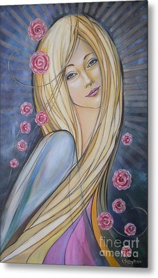 Sun And Roses 081008 Metal Print by Selena Boron
