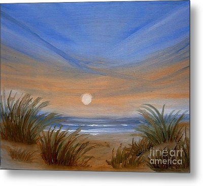 Metal Print featuring the painting Sun And Sand by Holly Martinson