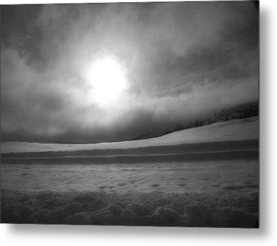 Sun And Snow Metal Print