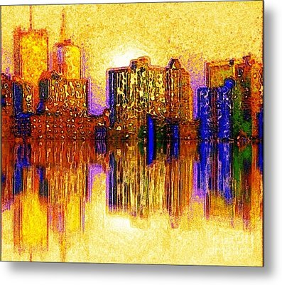 Metal Print featuring the painting New York Heat by Holly Martinson