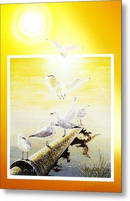Sun Birds Metal Print