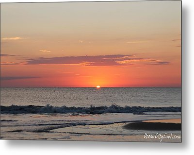Metal Print featuring the photograph Sun Breaks Horizon by Robert Banach