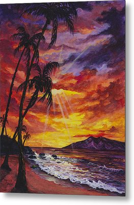 Metal Print featuring the painting Sun Burst by Darice Machel McGuire