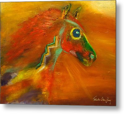 Metal Print featuring the painting Sun Dance by Barbie Batson
