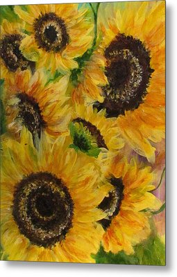 Metal Print featuring the painting Sun Danse by France Laliberte
