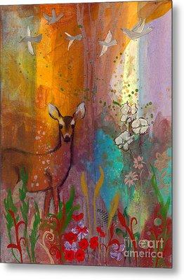 Sun Deer Metal Print