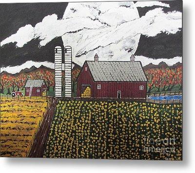 Sun Flower Farm Metal Print by Jeffrey Koss