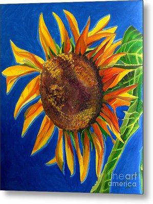 Sun Flower Metal Print by Grace Liberator