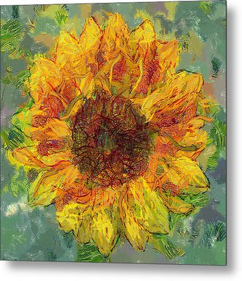 Sun Flowering 3 Metal Print by Yury Malkov