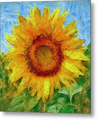 Sun Flowering 4 Metal Print by Yury Malkov