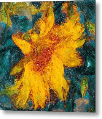 Sun Flowering Metal Print by Yury Malkov