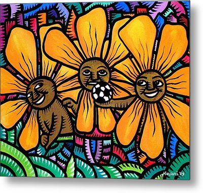 Sun Flowers And Friends Playtime 2009 Metal Print